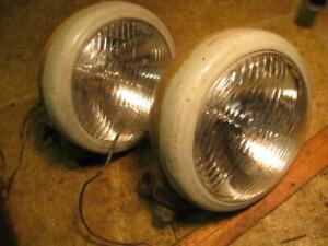 Vintage Yankee Clipper Driving Headlights Lamps Lights
