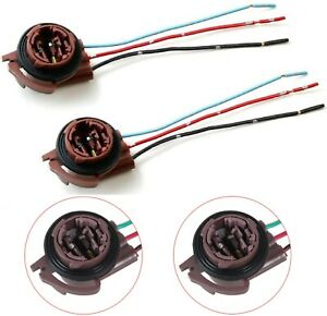 Universal Pigtail Wire Female Socket 3157 U Two Harness Brake Stop Replace Stock