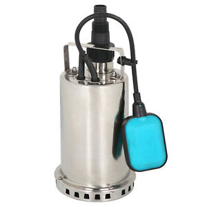 1hp Stainless Steel Submersible Sump Pump Dirty Clean Water Pump W 26ft Cable