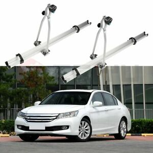 2 Pcs Roof Mounted Bike Bicycle Attachment Rack Upright Lock Carrier Universal