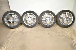 01 04 Corvette C5 Polished 5 Spoke Wheels Rims With Tires Center Caps Aa6656