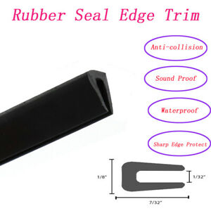 Rubber Edge Protector Trim Seal Non Slip Anti Scratch Soundproof Ornament 180