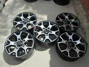 17 Jeep Wrangler Rubicon Oem Factory Wheels Rims Set 5 Black