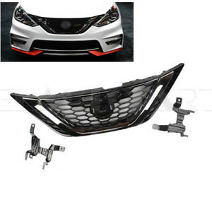 New Fit For 2016 2018 Nissan Sentra Front Bumper Grille Grill Chrome And Black
