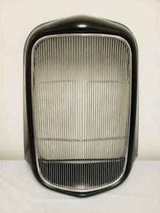1932 Ford Hot Rod Steel Radiator Grill Shell Smooth Stainless Grille Insert