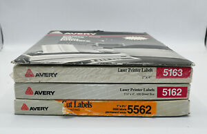 Avery Laser Printer Labels 4 Boxes Thousands Of Labels 5163 5162 5562 5267