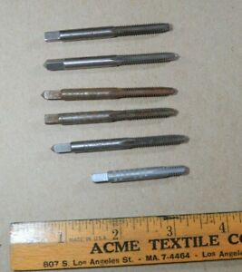 Lot Of 6 Tap Bits 12 24 Nc G H3 Hs Gtd Craftsman Ace Winter Greenfield