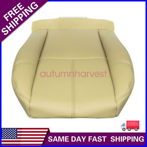Driver Bottom Leather Seat Cover For 2007 To 2012 Chevy Silverado Tan 333