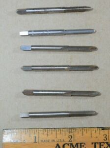 Lot Of 6 Tap Bits 8 32 Nc Gh3 Hs Hanson Whitney H w Craftsman Gtd Greenfield