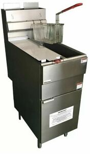 Commercial Catering Gas Fryer Twin Tank And Baskets Nat lpg Gas Stainless new