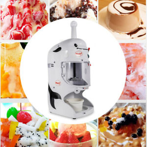 350w Electric Shaved Ice Crusher Cool Ice Cone Maker Snow Machine Commercial