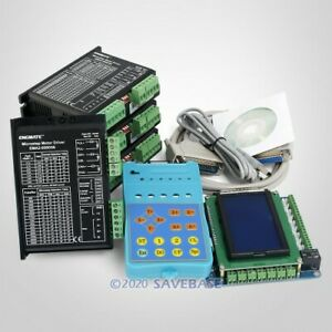 4 Axis Cnc Kit Mach3 Standard Control Board Ema2 050d56 Stepper Drivers