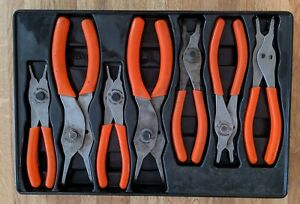 Snap On Tools 7 Piece Snap Retaining Ring Pliers Set