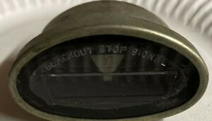 Original Jeep Willys Mb Gpw Blackout Marker Light 6 Volt