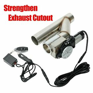 2 5 Electric Exhaust Catback Downpipe Cutout Valve System W Switch Control Kit
