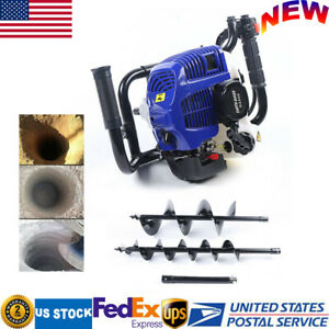 52cc 2 stroke Gas Powered Earth Auger Fence Post Hole Digger 4 8 Auger Drills