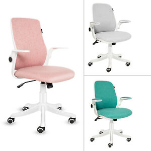 Mid Back Office Chair Mesh Swivel Seat Height Adjustable Rocking Lumbar Support