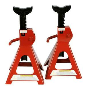 2pcs 6 Ton Jack Stands Lifting Capacity Stand Heavy Duty Car Caravan Floor