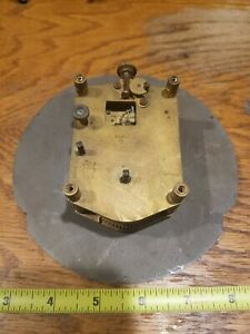 1943 Seth Thomas Brass Rectangular Ships Clock Movement From U S Navy
