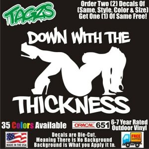 Bbw Sexy Girl Down With The Thickness Diecut Vinyl Window Decal Sticker Car