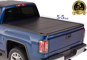 5 5 Flip Hard Tri Fold Bed Cover For 2015 2020 F150 Pickup Truck