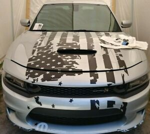 Large American Flag Graphics Of Hood Or Roof Your Car Truck