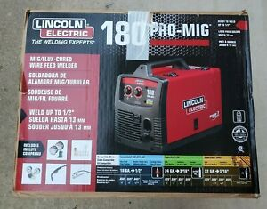 Lincoln Pro mig 180 Flux cored Wire Feed Welder K2481 1 230v 180 amp new