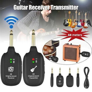 UHF Guitar Wireless System TransmitterReceiver Built In Rechargeable Battery US $21.09