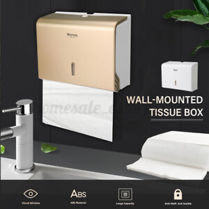 Bathroom Paper Towel Dispenser Box Holder Wall Mounted Home Commercia