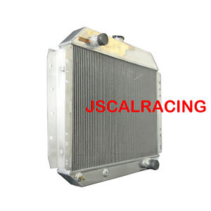 3row Aluminum Radiator Fit 66 79 Ford Truck Chevy Engine 62mm At Mt 833 Spawon