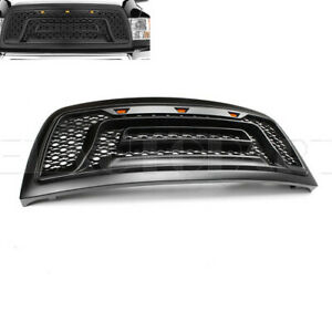 Fit For 2010 2018 Dodge Ram 2500 3500 Black Front Bumper Grill Grille W Led New