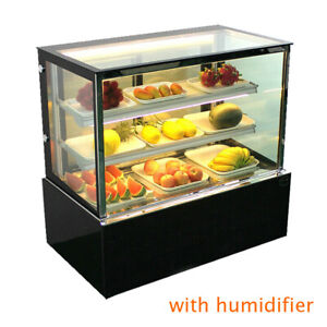 Back Door Refrigerated Bakery Showcase 3 Layer Display Case W Humidifier 220v