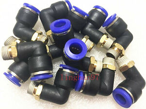 10pcs 1 8 L Fitting Connector Tube 8mm For Coats Tire Changer Machine Parts
