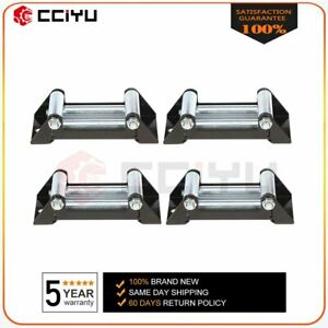 Universal 4 Way Roller Cable Guide Atv Winch Roller Fairlead 4000 5000lbs 4pcs