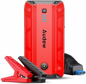 Audew Car Jump Starter 1500a Peak 18000mah 12v Battery Charger Up To 8l Gas