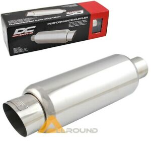 Dc Sports 3 5 Stainless Steel Exhaust Muffler Slant Tip For Scion Nissan