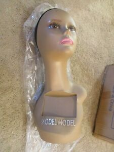 Female Mannequin Head Bust Wig Hat Jewelry Display Model Stand With Net Cap New