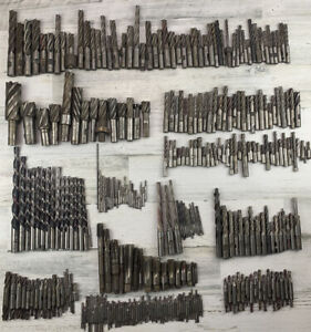 Machinist Bit Lot Milling Tooling Double End Mills 300 Total Various Sizes