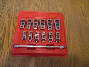 Blue point Tool 12 Point Metric Ratcheting Crowfoot Socket Wrench Set Bfcrm712