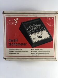 Vintage Sears Model 28 2177 Dwell Tachometer 6 Or 8 Cyl Box Manual As Is