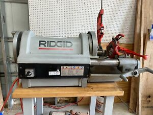 Ridgid Model 1224 Pipe Threader 1 4 Inch 4 Inch Power Threading Machine
