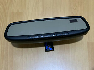 Factory Oem 07 10 Toyota Tundra Auto Dim Rear View Mirror Compass Homelink