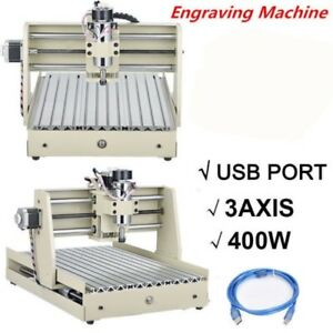 Usb 400w 3axis 3040 Cnc Router Engraver Cuttrer Woodworking Engraving Machine Kk