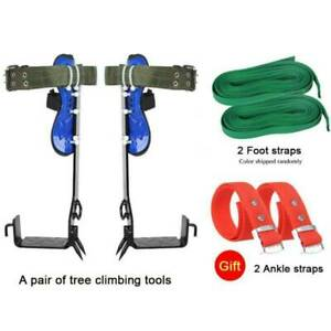 Adjustable Tree Climb Spike Spurs Very Safety Belt Straps Rope Anti rusth Z6