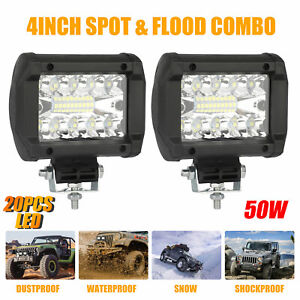10x Amber 4 Led Clearance Side Marker Lights For Car Rv Truck Trailer Pickup 12v