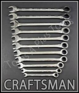Craftsman Tools 11pc Full Polish 72 Tooth Metric Mm Ratcheting Box Wrench Set