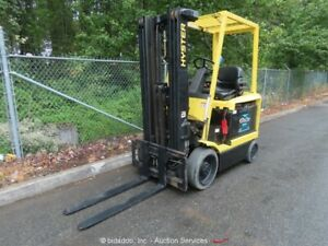 2007 Hyster E45z 33 4 500 Lbs Electric Forklift Lift Truck 48v Free Shipping