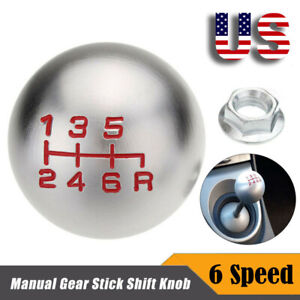 6 Speed Car Manual Gear Stick Shift Knob Shifter Mt Handle Universal For Honda