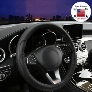 Car Steering Wheel Cover Leather Breathable Anti Slip Accessories For Ford Honda