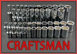 Craftsman 47pc Standard Deep 1 4 Sae Metric Mm 6pt Ratchet Wrench Socket Set